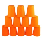 Table Game Toy Fast Folding Flying Cup - Orange (12 PCS)