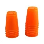 Table Game Toy Fast Folding Flying Cup - Orange (12PCS)