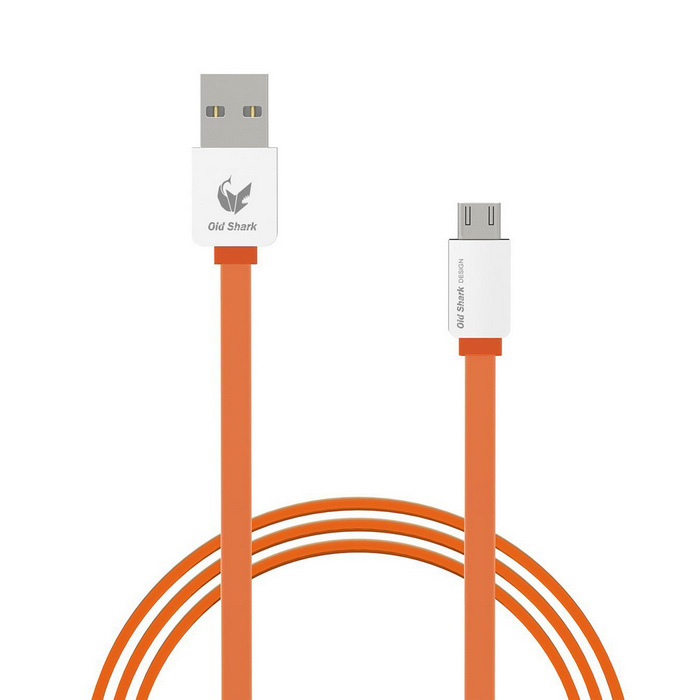 OLDSHARK Micro USB to USB 2.0 Flat Data Sync & Charging Cable for Android Phones - Orange(SKU 415058)