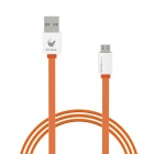 OLDSHARK Micro USB to USB 2.0 Flat Data Sync & Charging Cable for Android Phones - Orange
