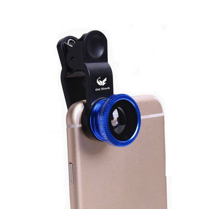 Oldshark Universal 3-in-1 Clip-on 180 Fish Eye + Wide-Angle + Macro Lens Kit for IPHONE &amp; MoreLens &amp; Microscopes<br>Form  ColorDeep BlueQuantity1 DX.PCM.Model.AttributeModel.UnitMaterialMetalShade Of ColorBlueCompatible ModelsIPHONE 5S,IPHONE 5,IPHONE 4,IPHONE 4S,IPHONE 3GS,IPHONE 3G,Others,iPhone 3G / 3GS / 4G / 4S / 5 / 5G, Samsung Galaxy S2 I9100 SII / S3 I9300, iPad / iPodLens EffectsWide angle,Fish eye,MacroMagnificationOthers,0.65XPacking List1 x Fish eye lens1 x Wide angle lens = Wide conversion lens + macro lens2 x Lens covers (plastic)1 x Clip1 x Microfiber carrying pouch 1 x English manual<br>