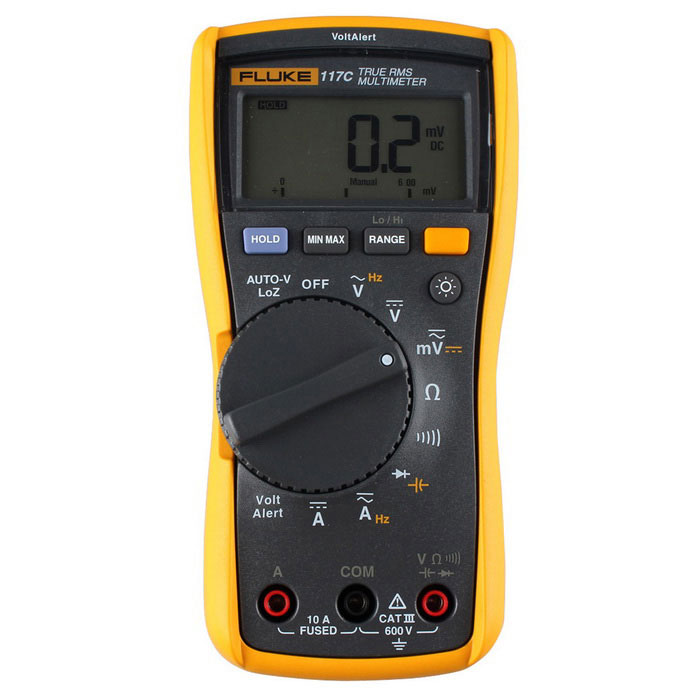 FLUKE 117C auto digitale true-RMS-multimeter - geel + grijs