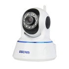 ESCAM QF002 720P 1MP Wi-Fi Security IP Camera - White (EU Plug)