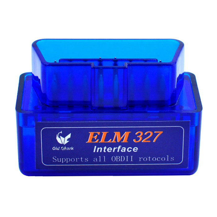 Oldshark Mini ELM327 Bluetooth OBD2 V2.1 Car Diagnostic Tool - BlueCode Readers and Scan Tools<br>Form  ColorBlueModelN/AQuantity1 DX.PCM.Model.AttributeModel.UnitMaterialPlasticScreen SizeN/A DX.PCM.Model.AttributeModel.UnitVersionOthers,V2.1FunctionRead trouble codes,Check Engine Light (MIL),Clear trouble codes,Display current sensor data,Caculate fuel oil consumptionReadparam Engine RPM,Intake Air Temperature,Air Flow Rate,Absolute Throttle Position,Oxygen sensor voltages associated short term fuel trims,Fuel System status,Fuel PressureWireless BluetoothYesTransmit Distance10 DX.PCM.Model.AttributeModel.UnitDiagnose Interface16pinSupported LanguagesEnglishSmartphone Brand SupportedSamsung,LG,Sony EricssonApplication SupportedPC,SmartphoneSoftware Platform SupportedAndroid,Symbian,PPC?Windows Mobile),Win XPProtocols SupportedISO15765-4 (CAN),ISO14230-4 (KWP2000),ISO9141-2Output ProtocolISO15765-4 (CAN), ISO9141-2Indicator LEDsOBD transmitBaud Rate9600-38400 DX.PCM.Model.AttributeModel.UnitCompatible MakeUniversalWorking Voltage   12 DX.PCM.Model.AttributeModel.UnitWorking Current45 DX.PCM.Model.AttributeModel.UnitPacking List1 x Scanner1 x CD<br>