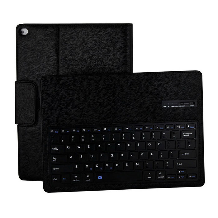 Litchi Pattern Bluetooth PU Keyboard Case for IPAD PRO - BlackIpad Cases<br>Form ColorBlackQuantity1 DX.PCM.Model.AttributeModel.UnitMaterialPU LeatherShade Of ColorBlackCompatible ModelsOthers,IPAD ProDesignSolid Color,Lichee PatternTypeLeather CasesAuto Wake-up / SleepYesPacking List1 x Leather Case1 x Charging cable(65cm)<br>