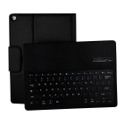Multifunctional Litchi Pattern Bluetooth PU Keyboard Case for IPAD Pro - Black