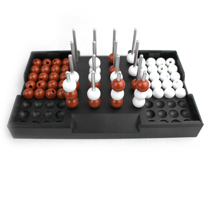Chess Game Put 4 Beads in A Line Adult Child Eucational Toy - Black