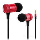 High Quality 3.5mm Universal Wired In-Ear Earphone - Red + Black