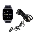 MAIKOU W90 Bluetooth Smart Watch Phone for Android, IOS - Black+Silver