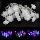 3W 20-LED RGB Romantic Roses Shape Decorative String Light - White (4m/AC 85~265V /2-Round-Pin Plug)