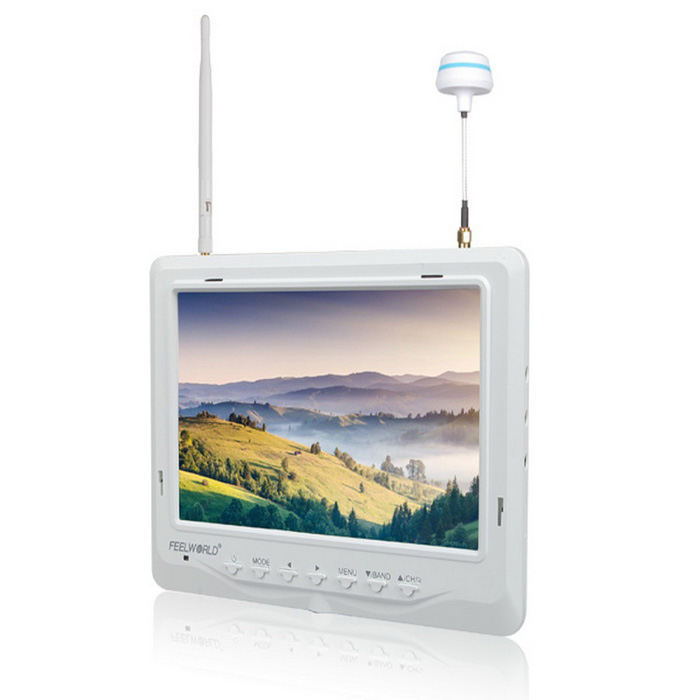 "FPV-718W 7"" 1024*600 Super Slim Built-in Battery FPV Monitor - White"