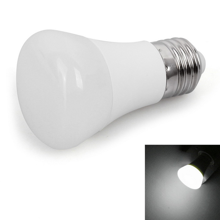 JOYDA E27 7W LED Bulb Lamp White Light 6000K 560lm - White + Silver