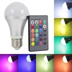 KINFIRE E27 9W 720lm LED RGB Light Bulb + 24 Key Remote Controller - Silver (AC 85~265V)