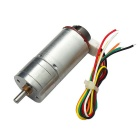 High Torque 25mm DC 6.0V 210rpm Encoder Precision Gear Motor