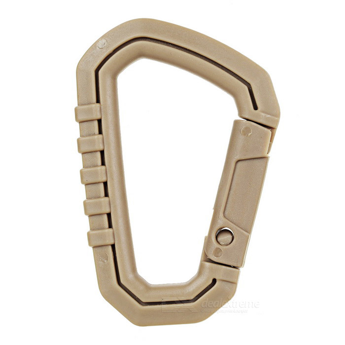 Outdoor Plastic Steel Quick Release Carabiner - Mud Color (M)