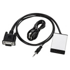 VGA Male to HDMI Female Adapter Cable - Black (59cm)