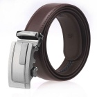 Fanshimite A07 Herren Automatische Buckle Leather Belt - Braun (125cm)