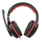 SENICC G7 Gaming Headband Headphone Headset w/ Mic - Black + Red