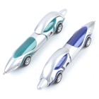 Creative Cool Car Style 1.0mm Ballpoint Pen - Blue + Silver + Multi-Color (2PCS)