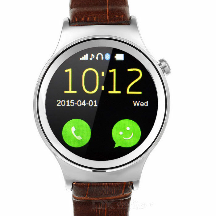 "Waterproof Bluetooth V3.0 MTK6260A Smart Watch w/ 1.22"" IPS - Silver"