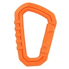 FURA Outdoor Plastic Steel Quick Release Carabiner - Orange (M)