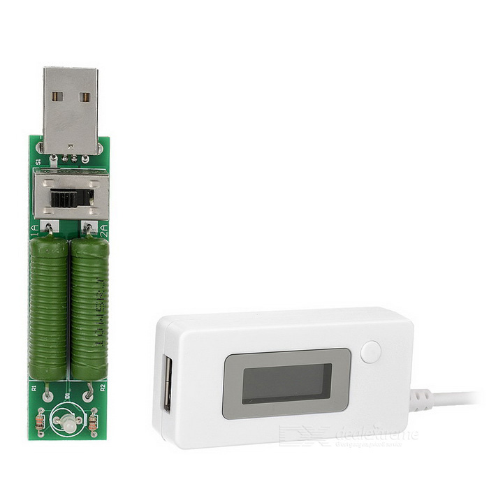 "USB 0.9"" LCD digitaalinen jännitemittari / volttimittari"
