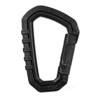 Outdoor Plastic Steel Quick Release Carabiner - Black (M)