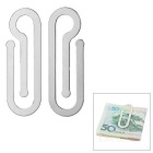 FURA Convenient Stainless Steel Cards Money Clip Holder (2PCS)