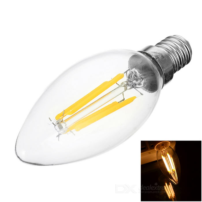 JRLED E14 4W 4-COB Filament Sharp Steep Light Warm White 3000K