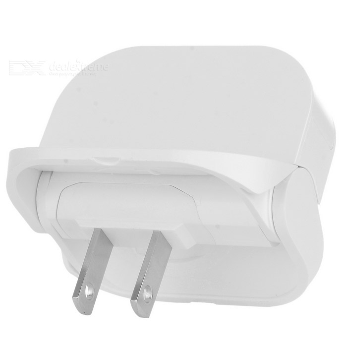 Cwxuan Universal Foldable USB 5V 1A Quick Charger - White (US Plugs)