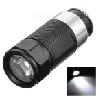 Mini Aluminum Allloy Car Cigarette Lighter Flashlight w/ 0.5W White Light LED - Black