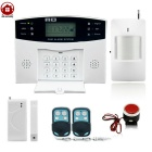 AG-security LCD Wireless&wired GSM SMS Home Security Alarm System Kit