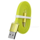 Cwxuan Flat USB 3.1 Type-C to USB 2.0 Data Charging Cable - Green (1m)