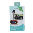 "0.5"" BT Car FM Transmitter w/ TF & MP3 Player & Charger - Black+Silver"