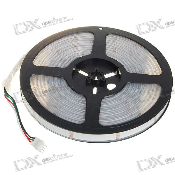 72W Waterproof RGB 300x5050 SMD LED Multicolored Light Strip (5-Meter/DC 12V)