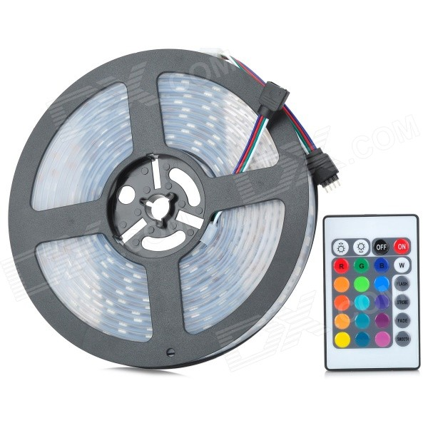 22.5W RGB 300 * 5050 SMD LED impermeável 4-Mode RC Light Strip (5m / 12V)