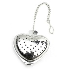 Stainless Steel Heart Shape Tea Holder Strainer Infuser Filter - Silver