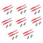 5 * 3 5030 Nylon Prop CW / CCW per 250 Mini Quadcopter - Red (8Pairs)