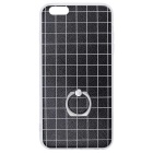 Protective Grid Pattern TPU Back Case w/ Ring Style Stand for IPHONE 6 Plus / 6S Plus - Black