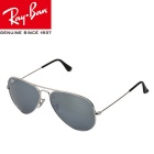 Genuine Ray-Ban RB3025 W3277 58M Series Pilot UV400 Protection Sunglasses - Silver + Mercury Revo