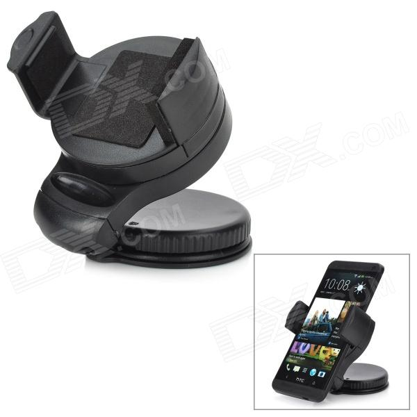 Car Windshield Mini Holder Swivel Mount for Cell Phone - Black
