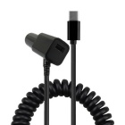 Spring USB 3.1 Type-C 5V 2A Car Charger Cable - Black