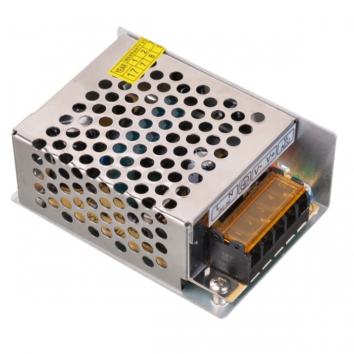 5V 5A Iron Case Power Supply - Silver (AC 110~220V)Switching Power Supply<br>Power25WForm  ColorSilverMaterialIron housingRated Current5 DX.PCM.Model.AttributeModel.UnitRate Voltage5VWorking Temperature-10~55 DX.PCM.Model.AttributeModel.UnitWorking Humidity20~80Packing List1 x Switching Power<br>