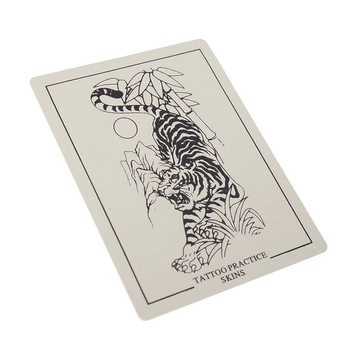P003 tiger picture tattoo simulation practice skin beige for Practice skin for tattooing