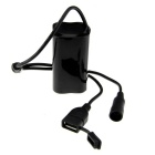 Multifunction USB 4000mAh 8.4V 4 x 18650 Battery Pack - Black