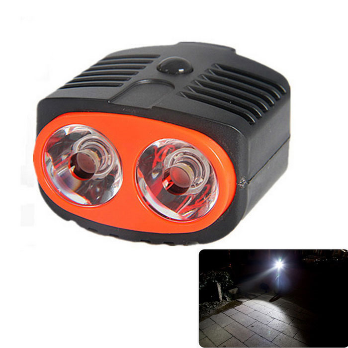 High-Power Owl Eyes Style Bicycle Headlight Neutral White - Black