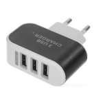 EU Plug Charger + Micro USB Magnetic Cable - White + Black