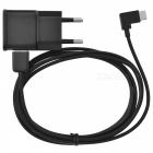 2A USB EU Plug Power Adapter Charger + 2m USB 2.0 to USB 3.1 Type C Data Charging Cable Set - Black