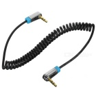 VENTION 3.5mm Male to Male 90 Degree Angled Connector Audio Cable - Black (1m)