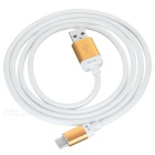USB 3.1 Type C to USB 2.0 Data Charging Cable - White + Champagne Gold